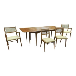 John Van Koert Drexel Expandable Drop-Leaf Dining Table Set
