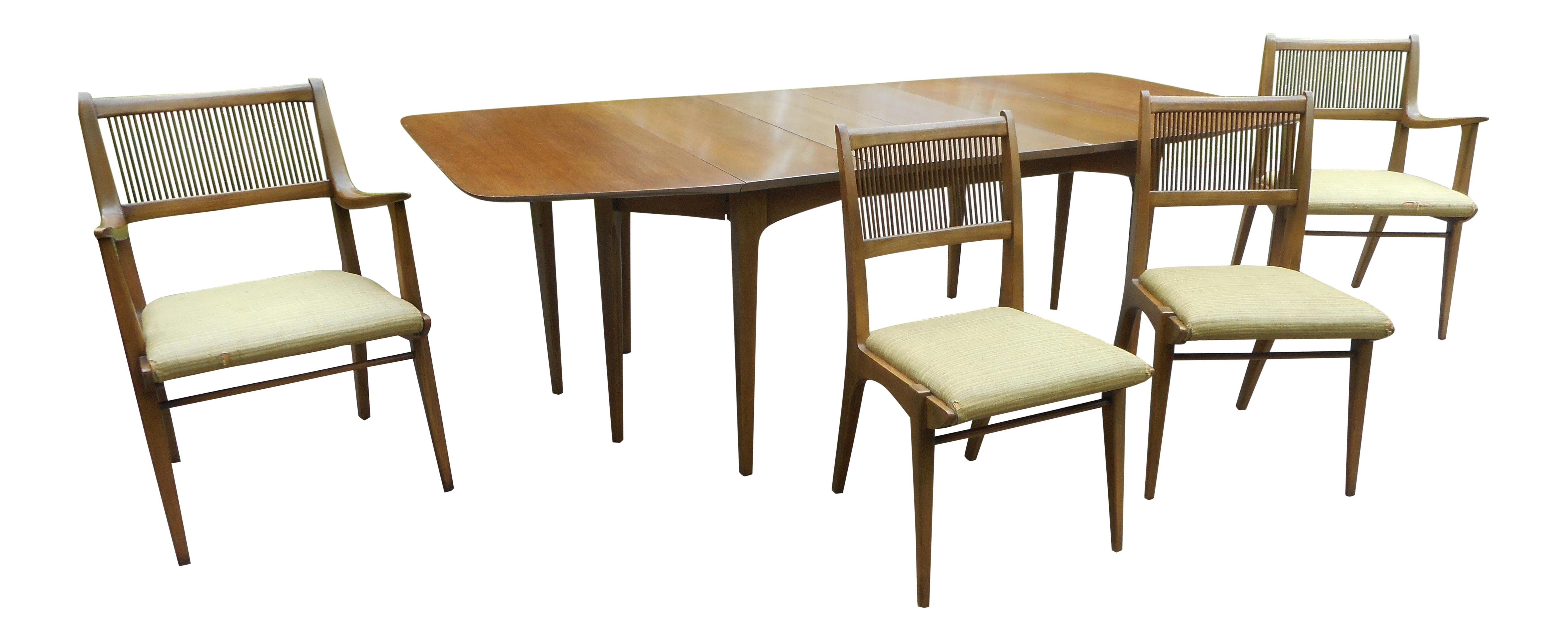 John Van Koert Drexel Expandable Chair Dining Table Set