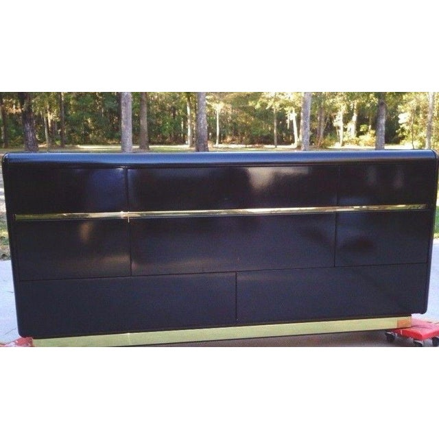 Lane Black Lacquer Hollywood 1987 Chest - Image 2 of 11