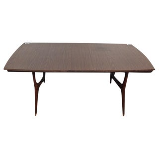 Mid-Century Modern Carved Rosewood Dining Table
