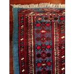 """Image of Antique Blue/Red Persian Tribal Rug - 4'8"""" X 6'5"""""""