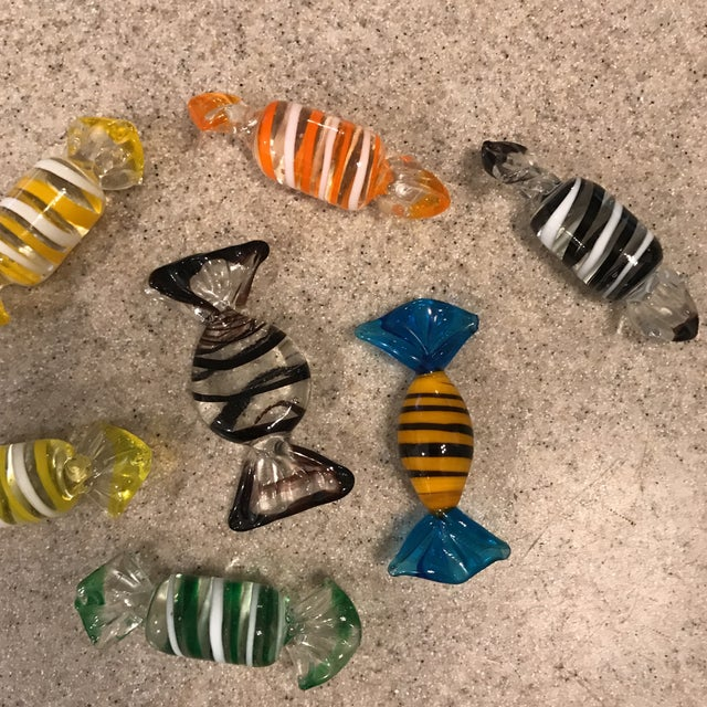 Murano Glass Candy Figurines - Set of 7 - Image 3 of 9
