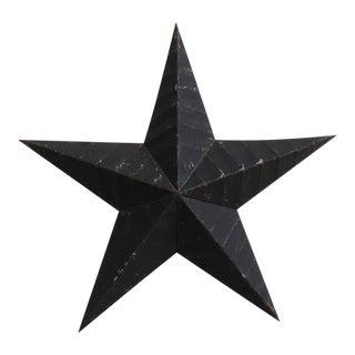 Black Painted Metal Star