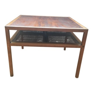 Vintage Cherry Wood Side Table