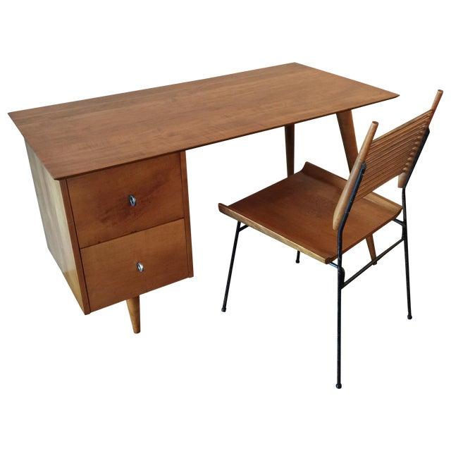 Paul McCobb for Planner Group Maple Desk & Chair - Image 1 of 11