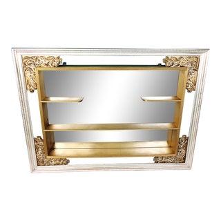 Mid Century Modern Illinois Molding Gold Mirror Shadow Box