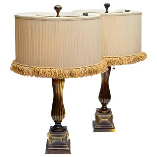Frederick Cooper Pair of Vintage Bronze Table Lamps