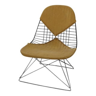 Early and Original Charles and Ray Eames Lkr Chair on Zinc Cats Cradle Base