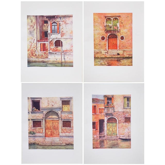 'Windows & Doors of Venice' Lithographs - Set of 4 - Image 2 of 8