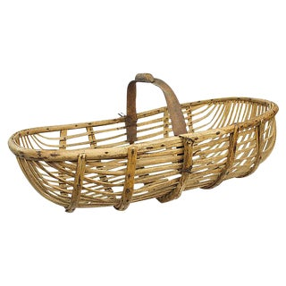Antique French Wooden Basket