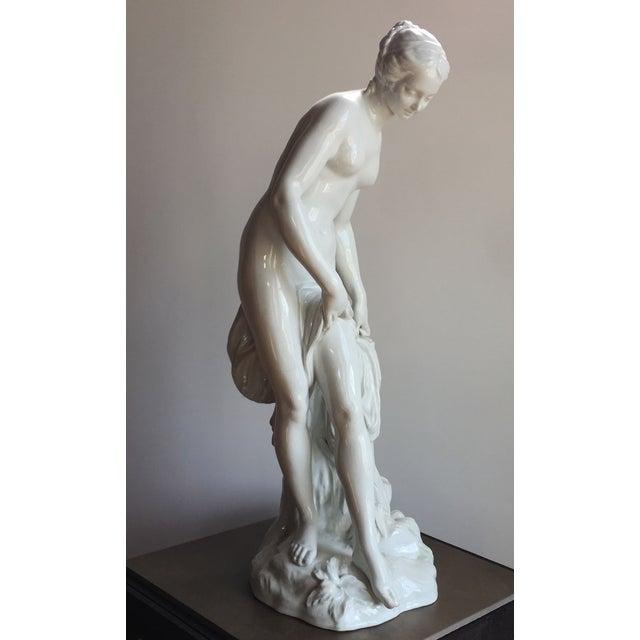 19th C. Falconet Porcelain 'Bather' Sculpture - Image 3 of 10