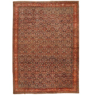 Exceptional Antique 19th Century Persian Fereghen Carpet
