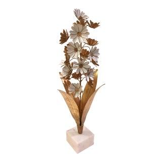 Hollywood Regency Flower Sculpture