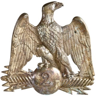 French Gilded Brass Eagle Hat Pin #2