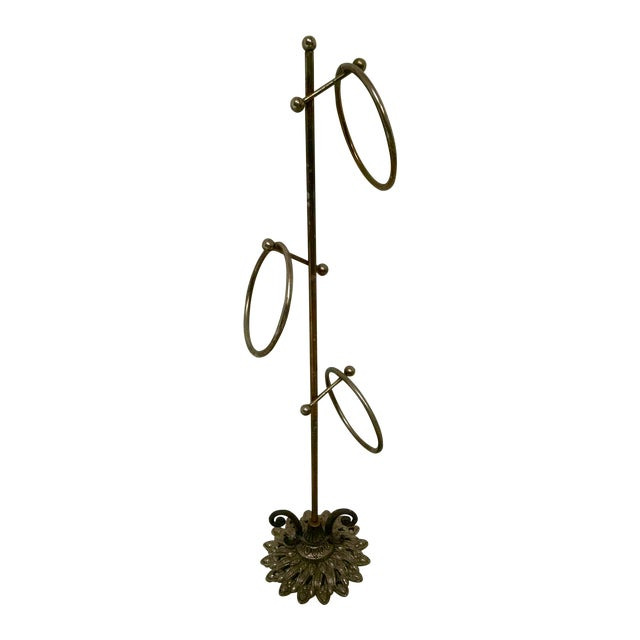 Vintage Hollywood Regency Brass Towel Rack - Image 1 of 4