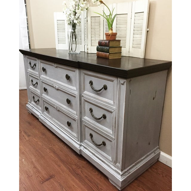 Image of Drexel French Style Gray Dresser