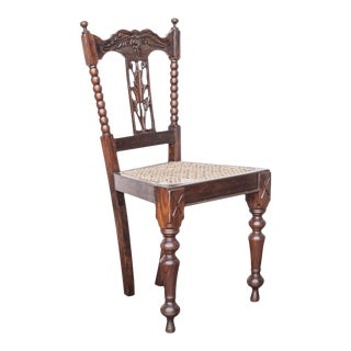 19th Century Anglo-Indian Rosewood Side Chair