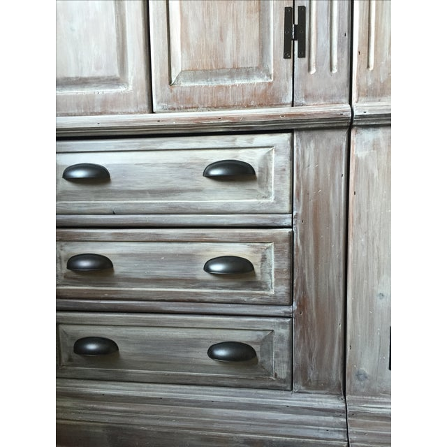 Solid Whitewash Armoire - Image 9 of 11