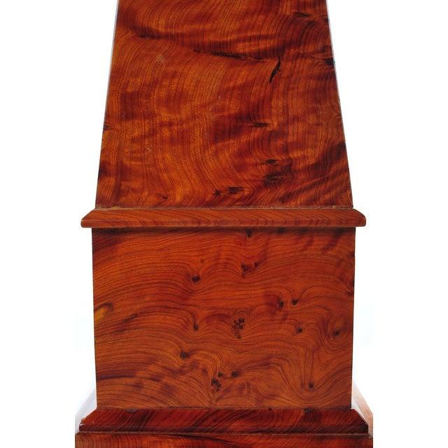 19th C. Large Burl Walnut Obelisks - A Pair - Image 4 of 9