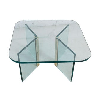 Pace Glass Arrowhead Base Coffee Table