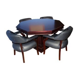 Poker Game Table & Chairs