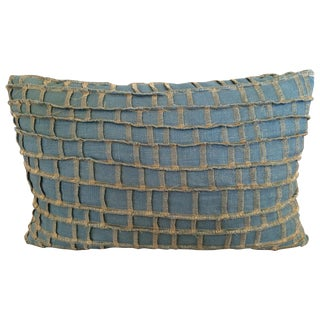Dransfield and Ross Metallic Grid Work Pillow