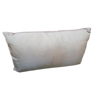 Vintage Herringbone Pale Pink Pillow