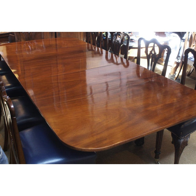 ENGLISH REGENCY DINING TABLE IN THE MANNER OF GILLOWS - Image 4 of 8