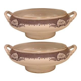 Transferware Serving Dishes - A Pair