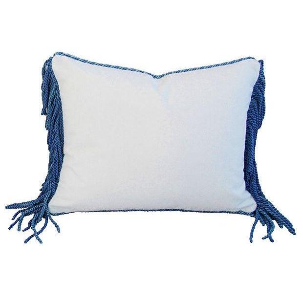Designer Kravet Blue & White Chinoiserie Pillow - Image 5 of 5
