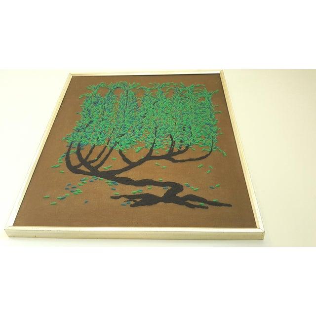 Vintage Framed Tree of Life Textile Art - Image 3 of 3