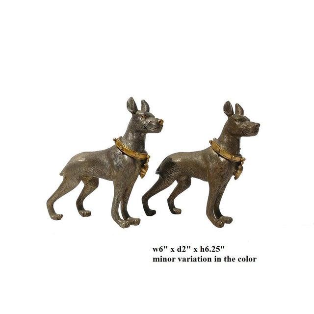 Metal Mini Table Top Dogs Figure - Pair - Image 5 of 5