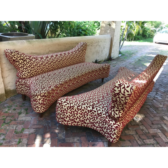Pair 8ft Mid-Century Style Modernist Sofas - Image 10 of 10