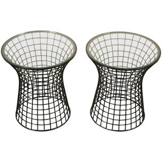 Warren Platner Style Lacquered Iron End Tables- A Pair
