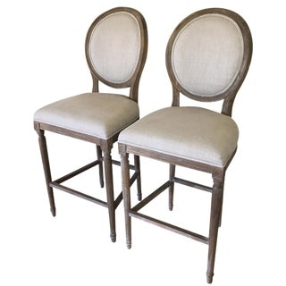 Restoration Hardware Bar Stools - A Pair