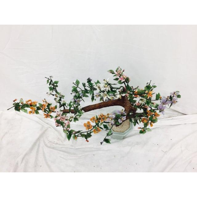 Vintage Mixed Stone Bonsai Tree Sculpture - Image 8 of 11