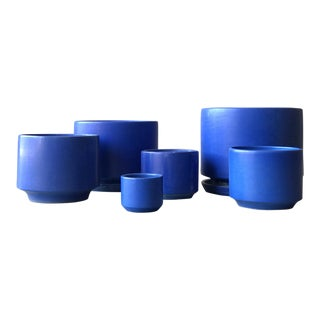 Collection of Rare Blue Gainey Planters - Set of 5