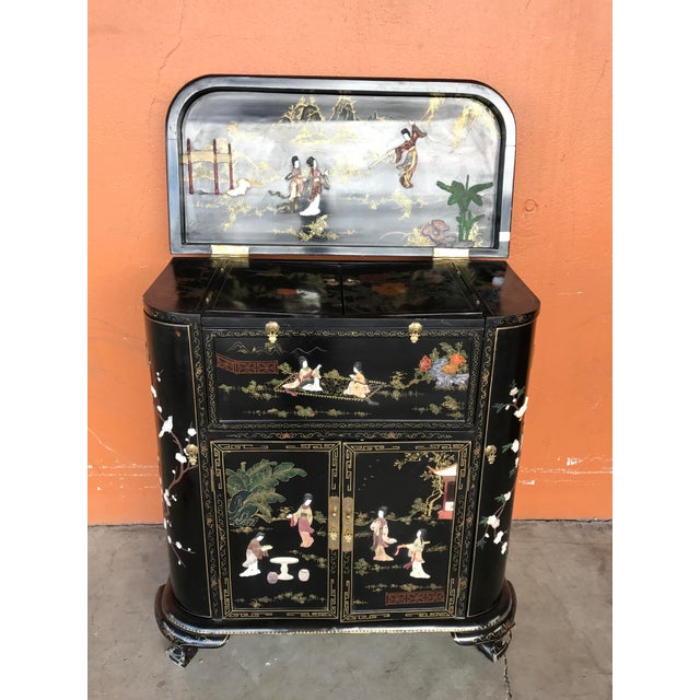 Lacquer and Inlay Hardstone Chinese Dry Bar - Image 2 of 8