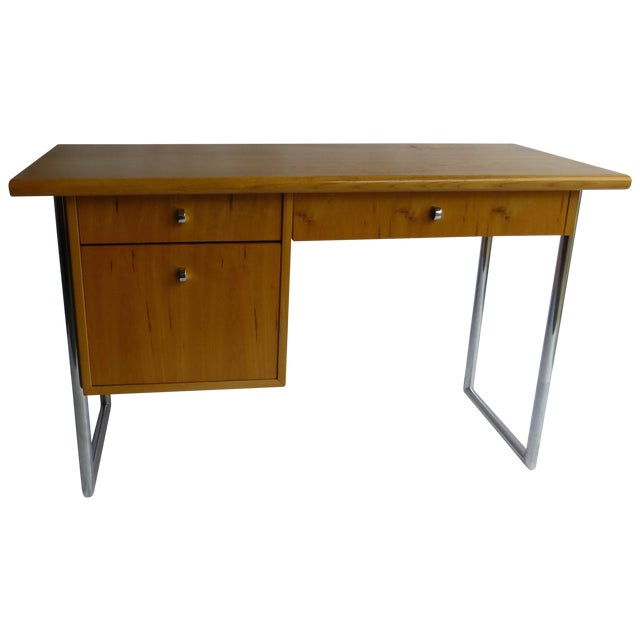 Jack Cartwright Mid-Century Birch Founders Desk - Image 1 of 9