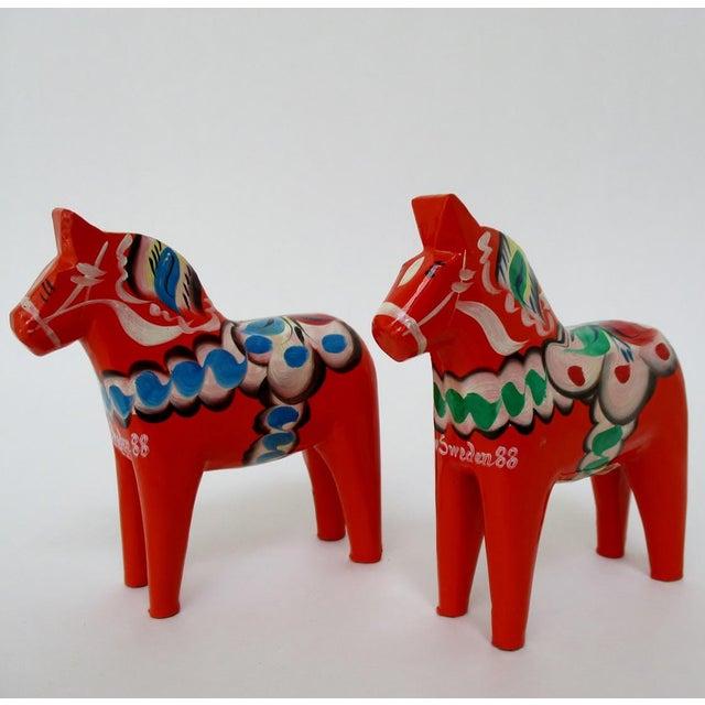 Nils Olsson Swedish Dala Horses- A Pair - Image 2 of 8