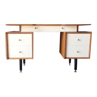 Restored Mid Century Two Tone Mahogany Desk by G-Plan
