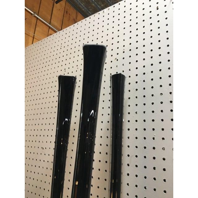 Modern Black Vases - Set of 3 - Image 3 of 5
