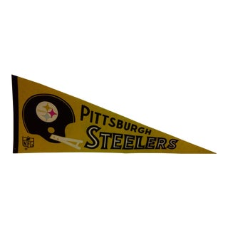 Vintage NFL Pittsburgh Steelers Pennant Flag