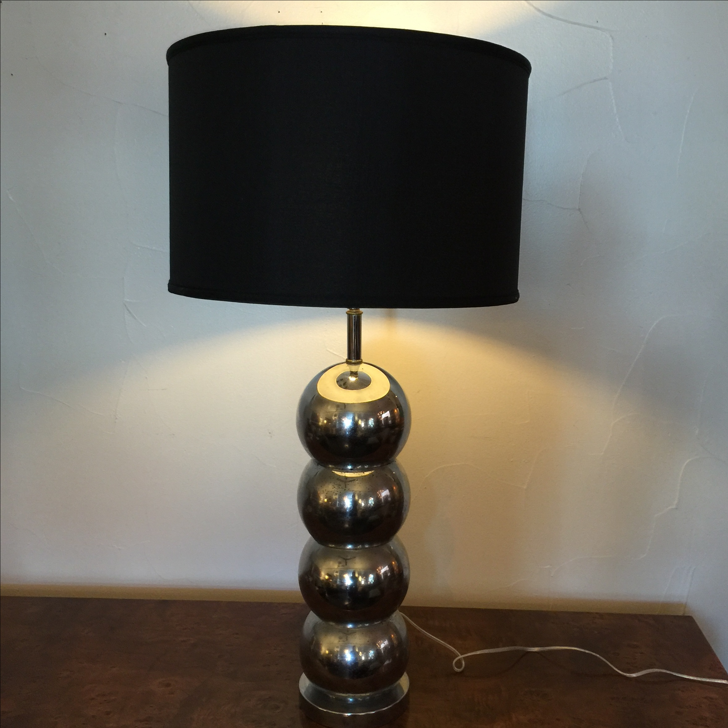 George Kovac Chrome Stacked Ball Lamp Rewired   Image 3 Of 9