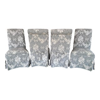 Sole Designs Brocade Dining Chairs - Set of 4