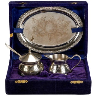 Circa 1920 Silver Plate Tea Set - Set of 3