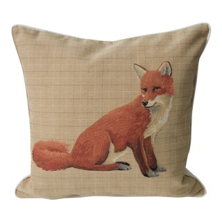 Sitting Fox Tapestry Pillow Cover
