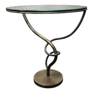 Iron & Glass Artisan Side Table