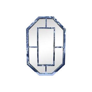 Milo Baughman Octagonal Chrome Mirror