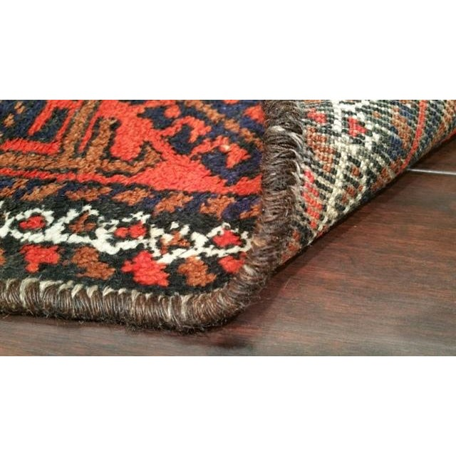 Vintage Traditional Baluch Hand Made Knotted Rug - 3′6″ × 6′2″ - Image 4 of 4